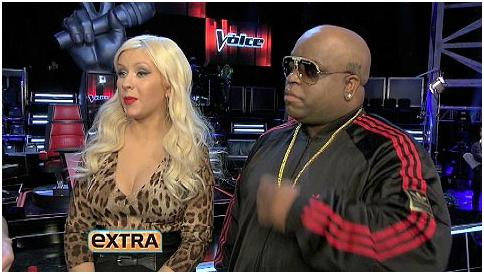 "An EXTRA Exclusive: ""EXTRA"" Welcomes Special Guest Christina Aguilera & NBC's ""The Voice"" Team Christina!"