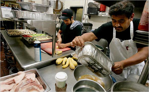 Wage Of Working In A Restaurant Kitchen