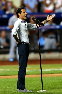 Marc Anthony Performance Angers Baseball Fans