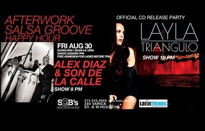 Alex Diaz & Layla Angulo at Salsa Groove Fridays at SOB's