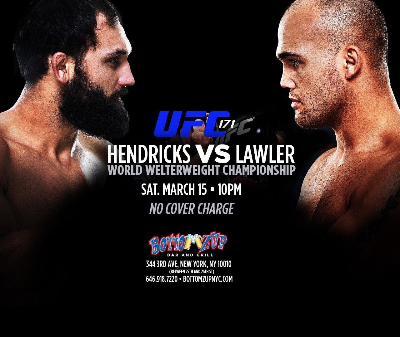 Free showing of UFC 171 at Bottomzup NYC – LatinTRENDS.com  Free showing of...