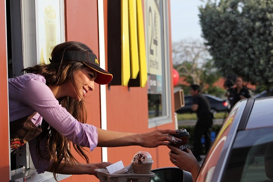 Latino Star Alejandra Espinoza Surprised McDonald's Customers with Free McCafé
