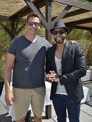 Henry Santos Attends Hamptons Event for Food Network's Chef Mauro
