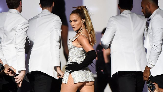 "J-Lo's Jaw Dropping ""Booty"" Performance"