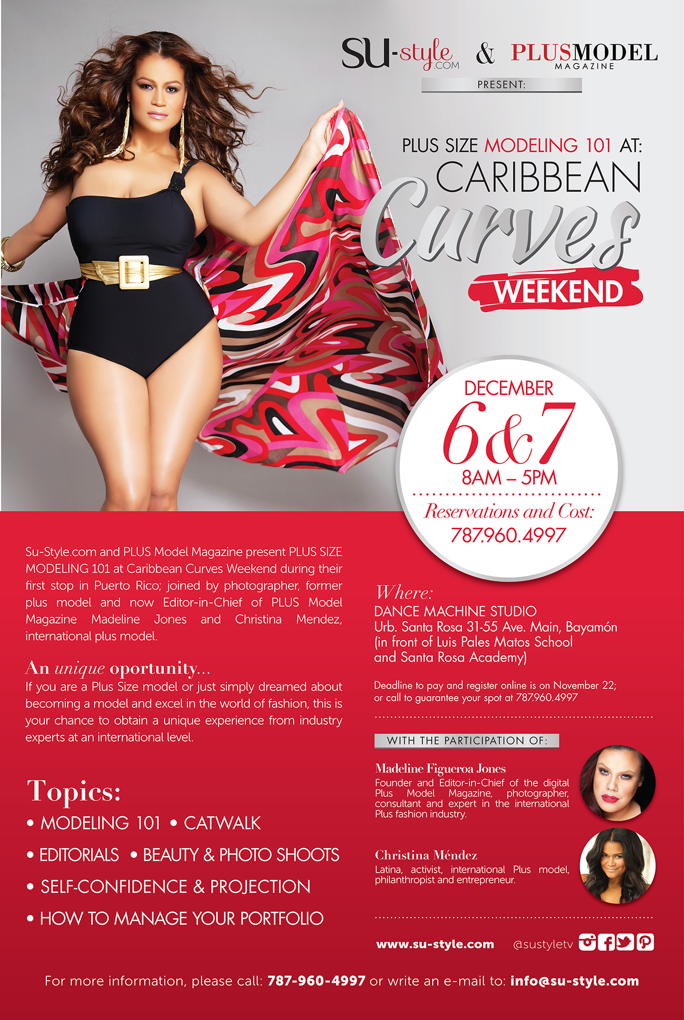 [EVENT] Plus Size Modeling Workshop En La Isla Del Encanto Puerto Rico