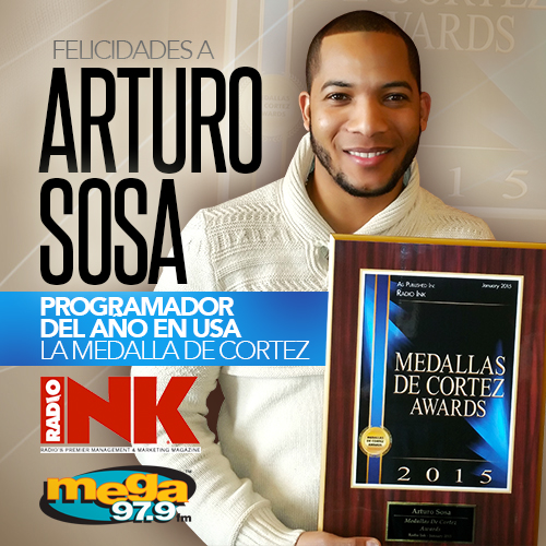 "ARTURO SOSA HONORED AS ""PROGRAM DIRECTOR OF THE YEAR"""