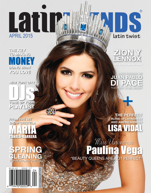 Miss Universe Paulina Vega Graces Cover of LatinTRENDS Magazine