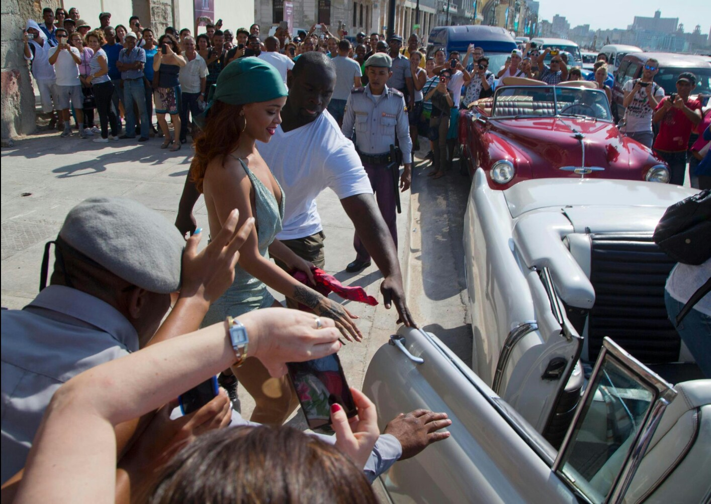Rihanna Works Hard and Parties Harder In Cuba