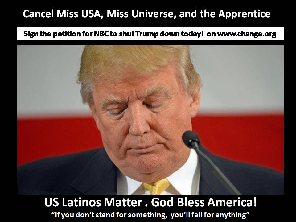 Petition to Dump Trump on NBC