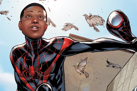 Miles Morales, a Latino & Black superhero, becomes the official Spider-Man of Marvel Comics!