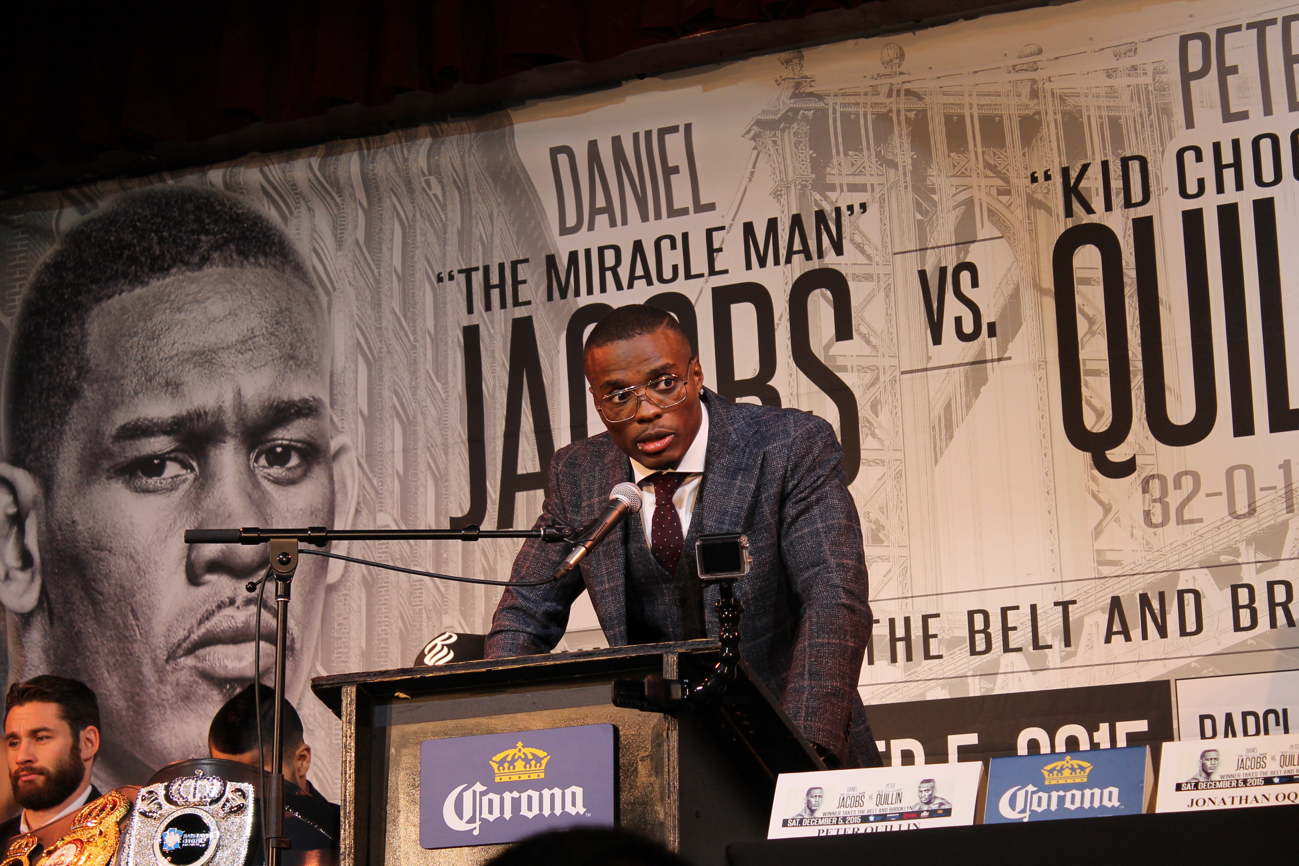 PETER QUILLIN LEADS PRAYER FOR FALLEN BOXER