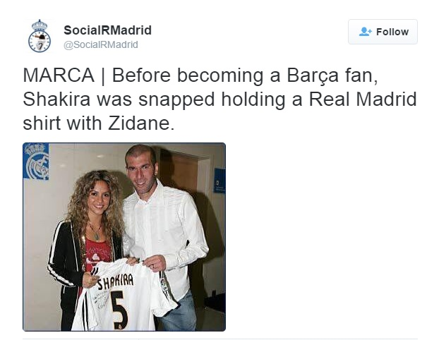 Shakira stirs #TBT controversy with Soccer fans!