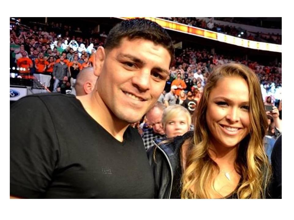 Video of Ronda Rousey & Nick Diaz Grappling on Mat