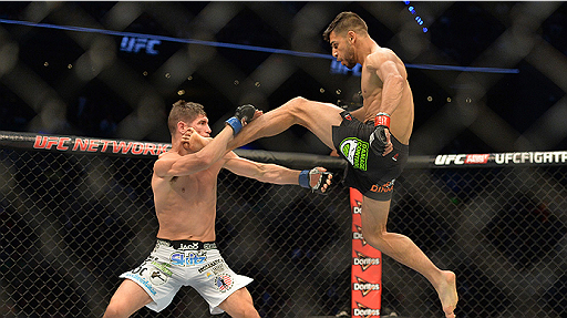 YAIR RODRIGUEZ AIRS OUT ANDRE FILI AT UFC 197