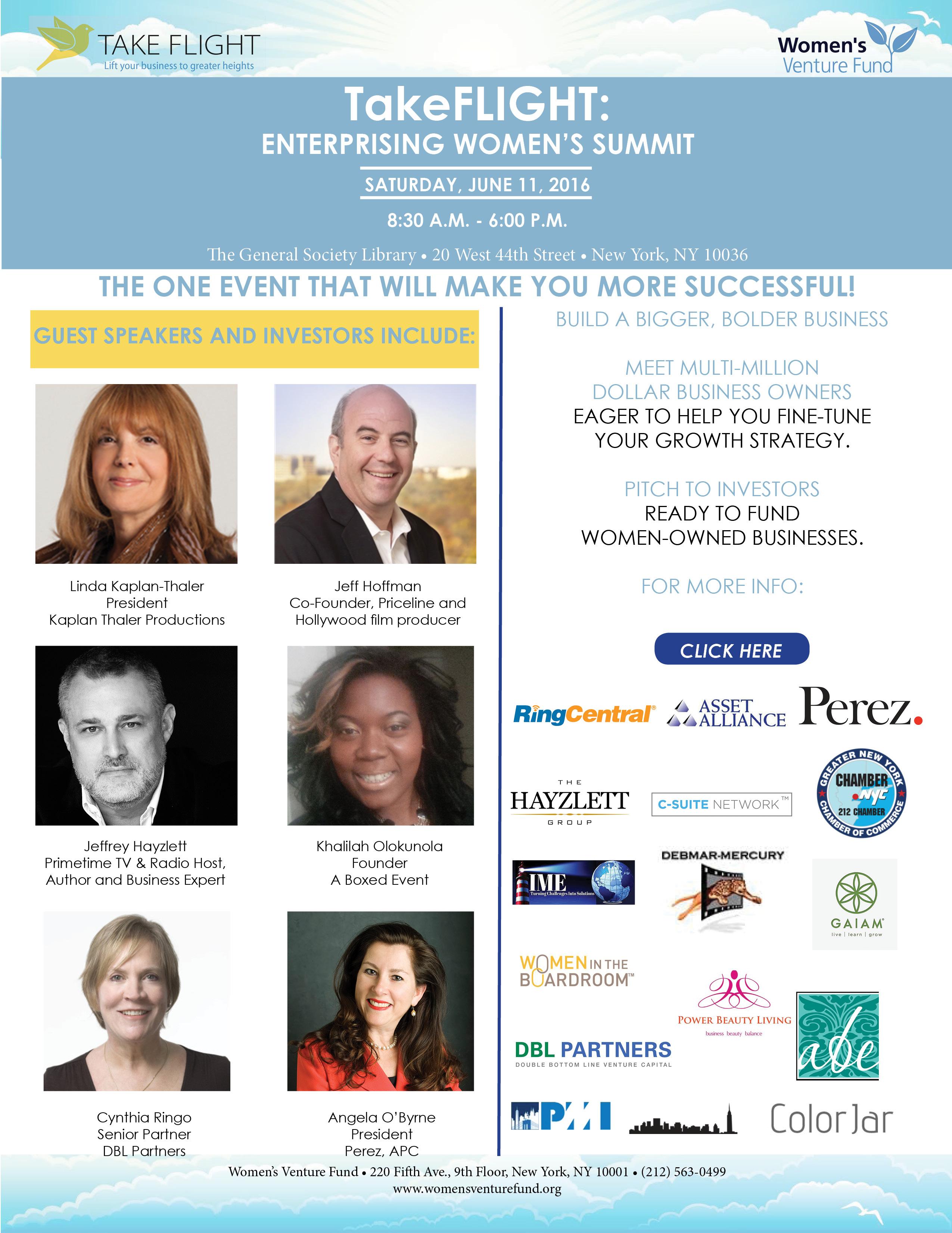 The Women's Venture Fund Announces Conference for Women Entrepreneurs