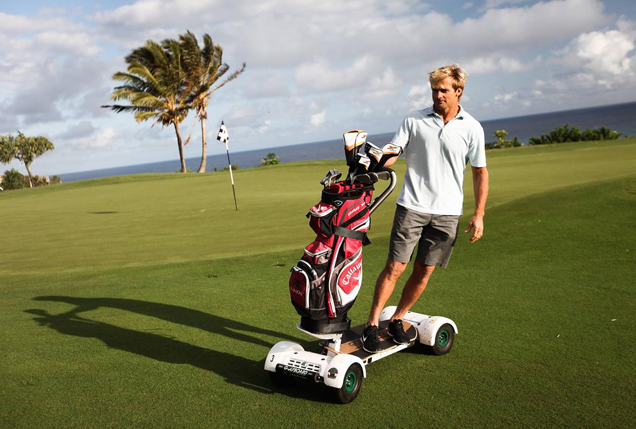 "Trend Report… ""Golf Board"" the world's 1st standing golf cart!"