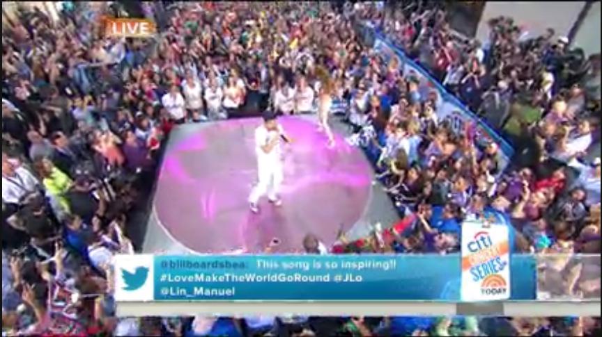 "Lin-Manuel Miranda & J-Lo Performed New Single ""Love Make the World Go Round"""