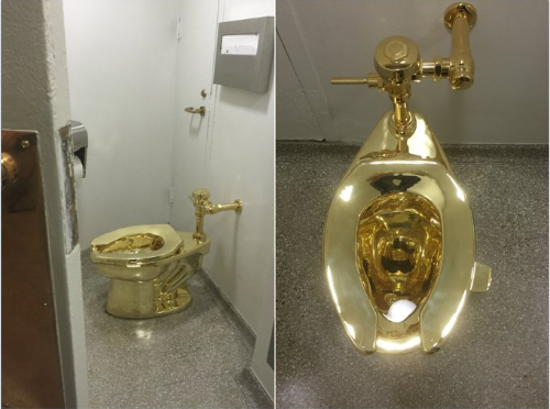 Want to take a Dump in a Gold Toilet?…Now you can