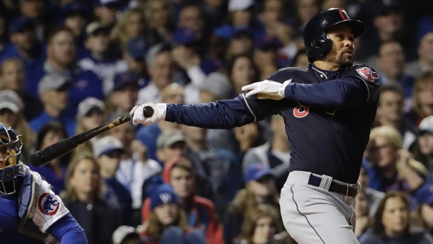 COCO CRISP CLUTCH HIT GIVES INDIANS 2-1 LEAD IN SERIES