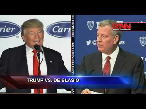 President Trump vs. Mayor de Blasio