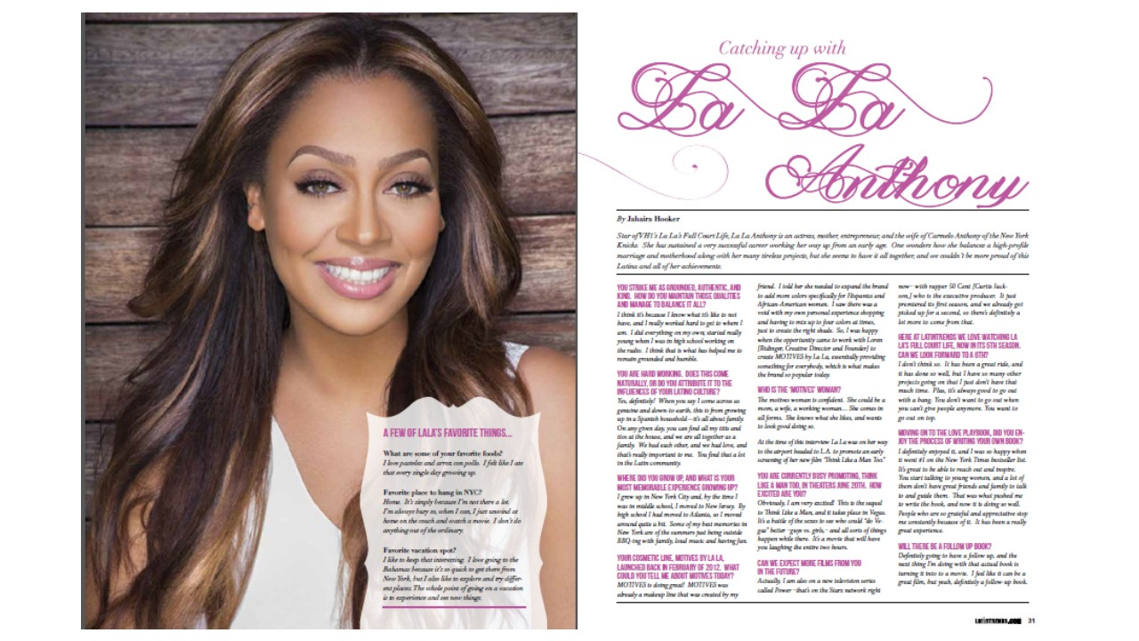 Throwback: Catching Up with La La Anthony Cover Story